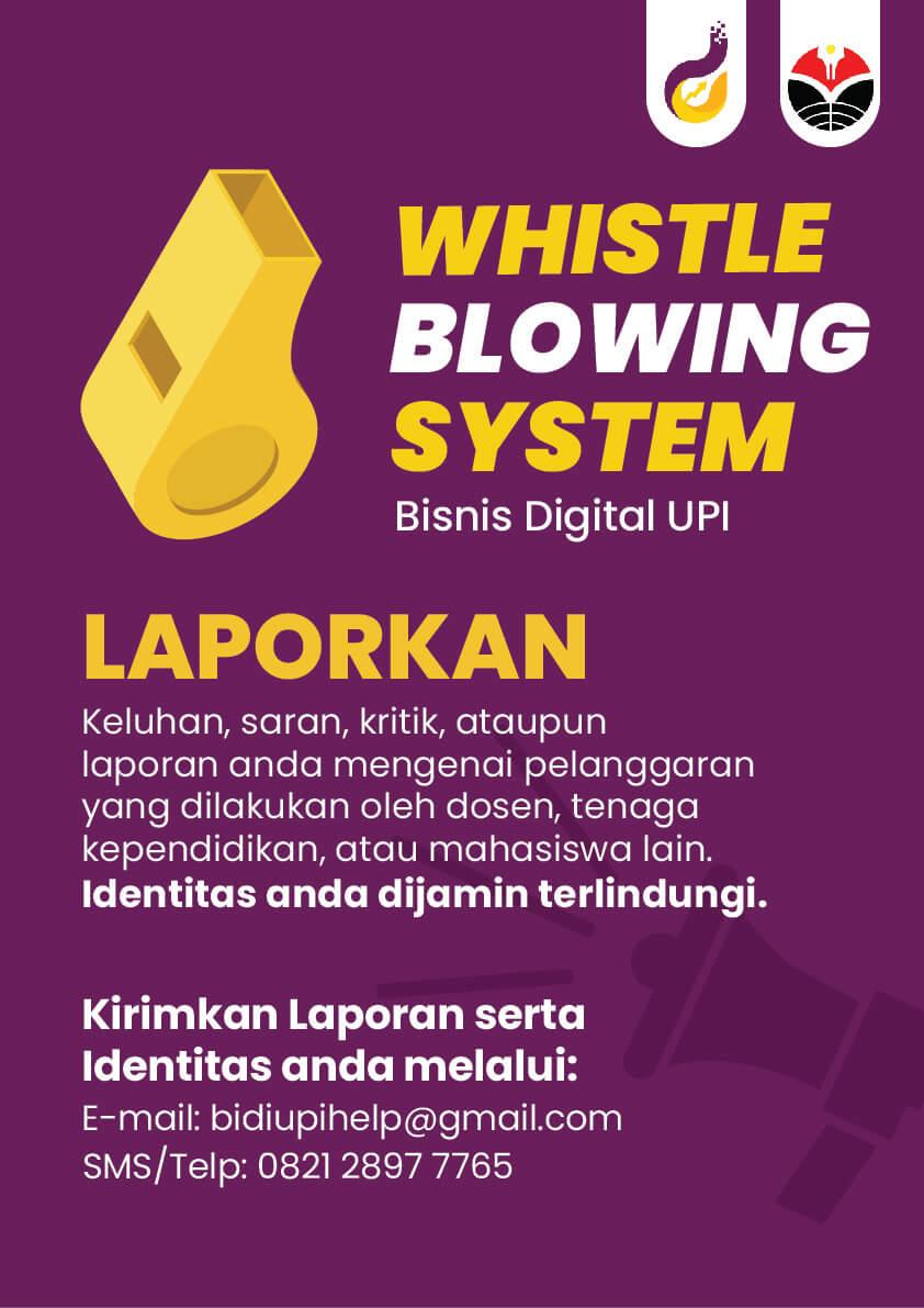 Whistle blowing System sebagai Upaya Peningkatan Kepuasan Mahasiswa Bisnis Digital